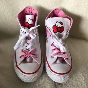 NWOT Converse x Hello Kitty sneakers
